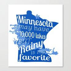 Rainy Lake Love Canvas Print