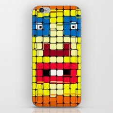 Pixelgesicht. iPhone & iPod Skin