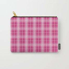 Spring 2017 Designer Color Spring Yarrow Tartan Plaid Check Carry-All Pouch