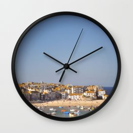St Ives Harbour. Wall Clock