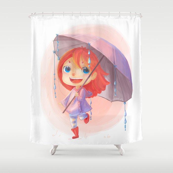 Umbrella Rain Shower Curtain