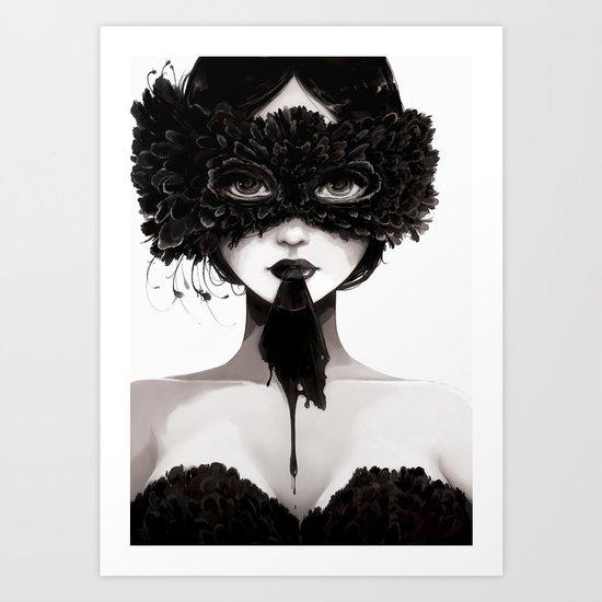 La veuve affamee Art Print
