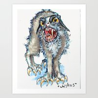 Whiskers the fun-loving cat Art Print