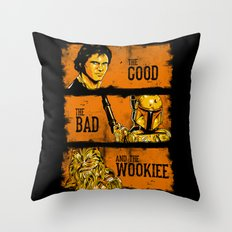 The Good, The Bad, and the Wookiee - New version Throw Pillow