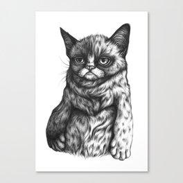 Tard the Grumpy Cat Canvas Print