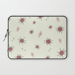 Mid Century Atomic Starburst Pink Pattern Laptop Sleeve