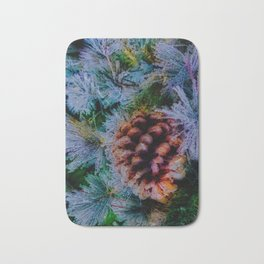 Vibrant Evergreen Christmas Bath Mat