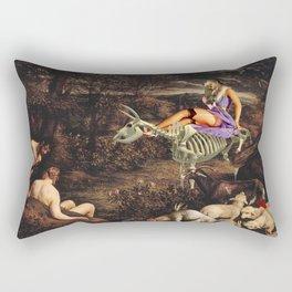 Us and the Animals Rectangular Pillow