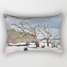 Drift Wood Beach 3 Rectangular Pillow