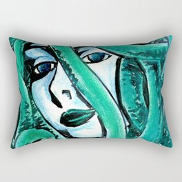 I don't blink Rectangular Pillow