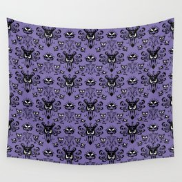 Purple Haunted Mansion Wallpaper Wall Tapestry