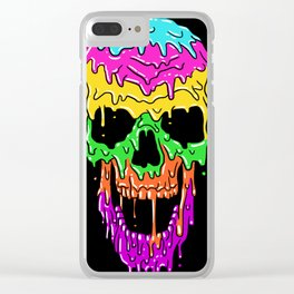 Summer Skull Clear iPhone Case
