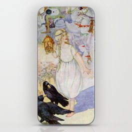 """Gerda and the Ravens"" Fairy Art by Anne Anderson iPhone Skin"