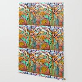 Piet Mondrian Trees Wallpaper
