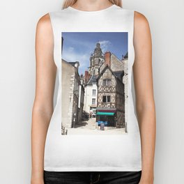 Cottage rustic house, French countryside, summer holiday Biker Tank