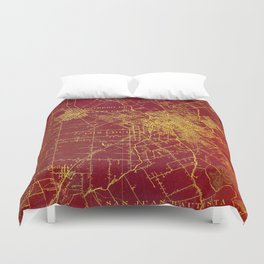 San Jose old map year 1899, united states vintage maps Duvet Cover