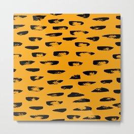 Hand drawn leopard pattern Metal Print