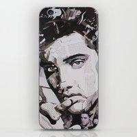 elvis iPhone & iPod Skins featuring Elvis by Ross Collins Artist