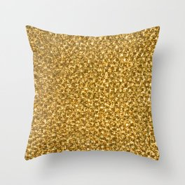 Gold fire Throw Pillow