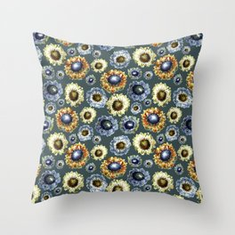 Scabiosa floral pattern 1 Throw Pillow