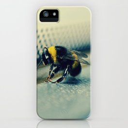 a sad bumblebee in the bus iPhone Case