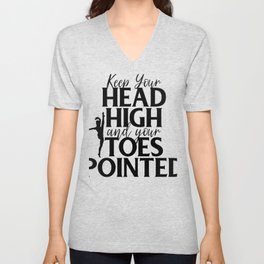 Gymnast Keep Head High and Toes Pointed Gymnastics Unisex V-Neck