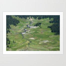 Verdant valley Art Print