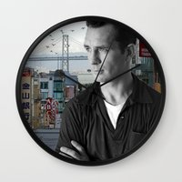 kerouac Wall Clocks featuring Jack Kerouac San Francisco  by All Surfaces Design