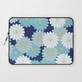 Blue oriental flowers Laptop Sleeve