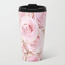 Roses have thorns- Floral Flower Pink Rose Flowers Travel Mug