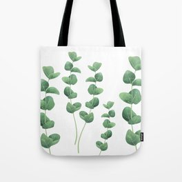 Eucalyptus polyanthemos leaves botanical illustration Tote Bag