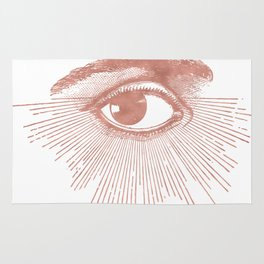I see you. Rose Gold Pink Quartz on White Rug