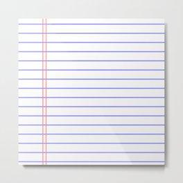 Notebook Metal Print