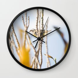 Bird - Black And White Wall Clock