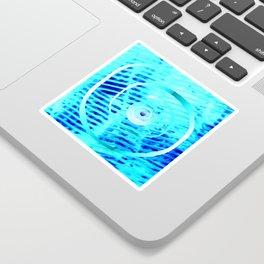 Spiral on  blue Sticker