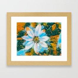 Clematis AI Blue Field Framed Art Print