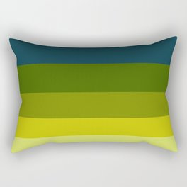 Colorful Color Block Pattern In The Pond Rectangular Pillow