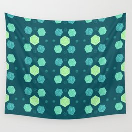 Blue & Green DnD Dice Wall Tapestry