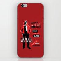 stiles stilinski iPhone & iPod Skins featuring Stiles Stilinski Quotes Teen Wolf by Alice Wieckowska