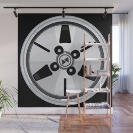 Wheel Design Retro JDM Racing Dish Wall Mural