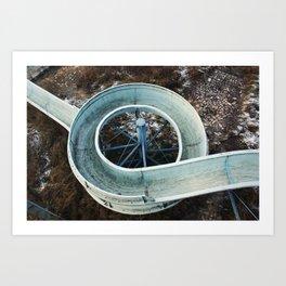 Abandoned slide Art Print