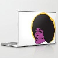 miles davis Laptop & iPad Skins featuring Ms. Davis by Grace Teaney Art