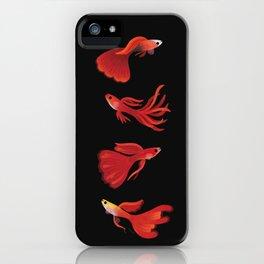 Red guppy iPhone Case