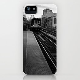 Black and White J Train iPhone Case