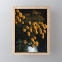 mustard yellow flowers Framed Mini Art Print