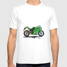 Kawasaki Ninja Mens Fitted Tee White MEDIUM