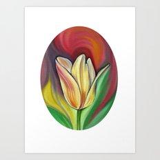 Oval Tulip Art Print