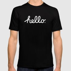 Hello: The Macintosh Office (Beige) Mens Fitted Tee Black SMALL