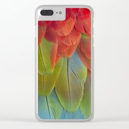 Macaw Feathers. Clear iPhone Case