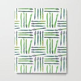 Asparagus Bunch Watercolor Metal Print